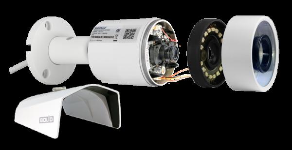 Цилиндрическая IP-видеокамера BOLID VCI-123 с ИК-подсветкой до 30 м