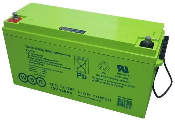 Аккумулятор WBR 12V 150Ah GPL121500А