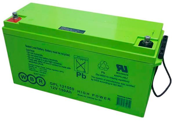 Аккумулятор WBR 12V 155Ah GPL121550