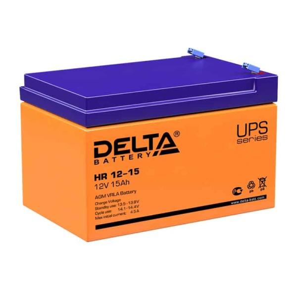 Аккумулятор Delta 12V 15Ah HR 12-15