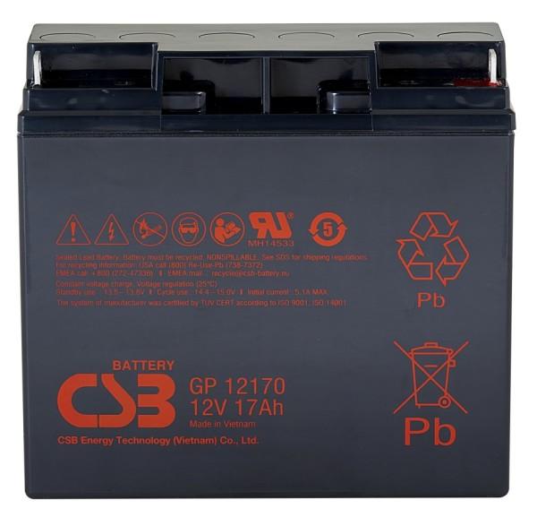 Аккумулятор CSB 12V 17Ah GP12170