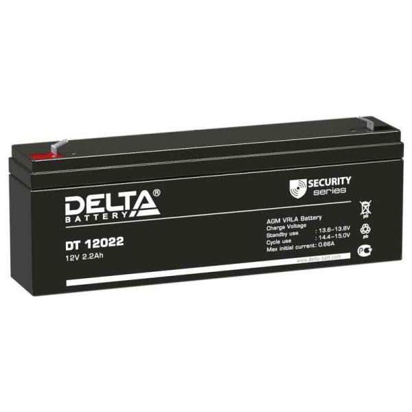 Аккумулятор Delta 12V 2,2Ah DT 12022