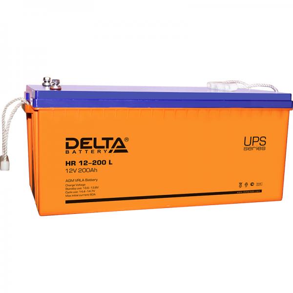 Аккумулятор Delta 12V 200Ah HR 12-200 L