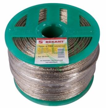Rexant Трос стальной в ПВХ изоляции d=3.0 мм, 200 м