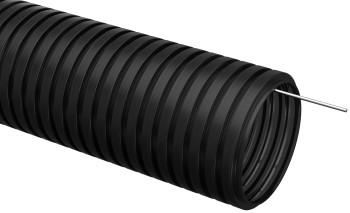Труба гофрированная ПНД d=16мм с зондом черная (100м)
