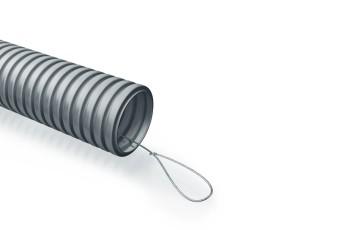 Труба гофрированная ПожТехКабель ПВХ с зондом D=20мм