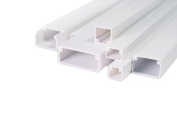 Кабель-канал 20x10 ПожТехКабель двойной замок, белый (100 м/уп)