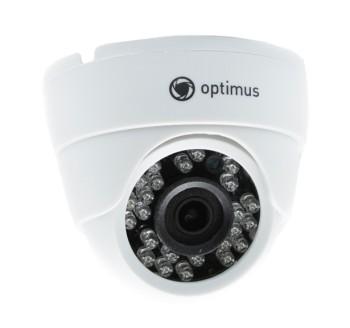 Купольная AHD видеокамера Optimus AHD-H025.0(2.8)_V.2 С ИК-подсветкой до 20 м