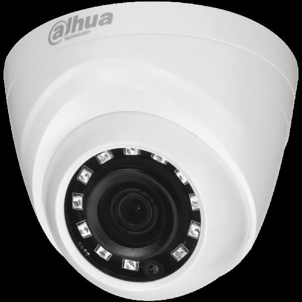 Купольная HDCVI-видеокамера Dahua DH-HAC-HDW1400MP-0280B c ИК-подсветкой до 30 м