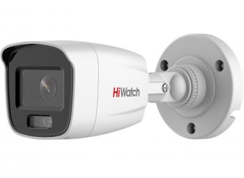 Цилиндрическая IP-видеокамера HiWatch DS-I250L (4 mm) с LED-подсветкой до 30 м