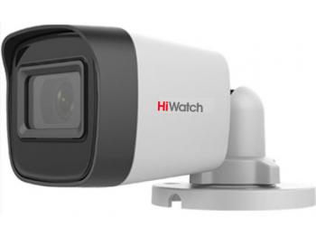 Цилиндрическая HD-TVI видеокамера HiWatch DS-T500(С) (2.4 mm) с EXIR-подсветкой до 30м
