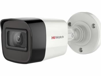 Цилиндрическая HD-TVI видеокамера HiWatch DS-T520 (С) (6 mm) с EXIR-подсветкой до 40м