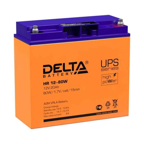 Аккумулятор Delta 12V 20Ah HR 12-80 W