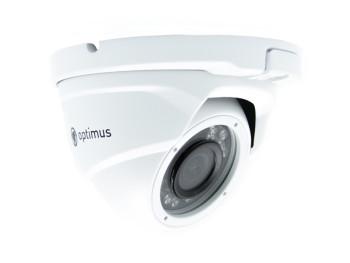 Купольная AHD видеокамера Optimus AHD-H045.0(2.8)_V.2 с ИК-подсветкой до 20 м