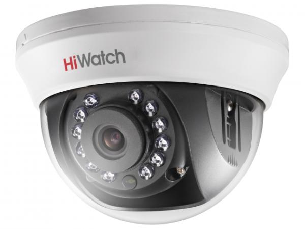 Купольная HD-TVI видеокамера HiWatch DS-T201(B) (2.8 mm) с ИК-подсветкой до 20м