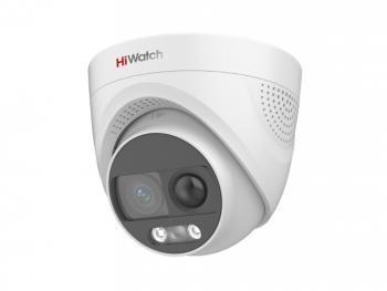 Купольная HD-TVI видеокамера HiWatch DS-T213X (2.8 mm) с PIR-датчиком и EXIR подсветкой до 20м