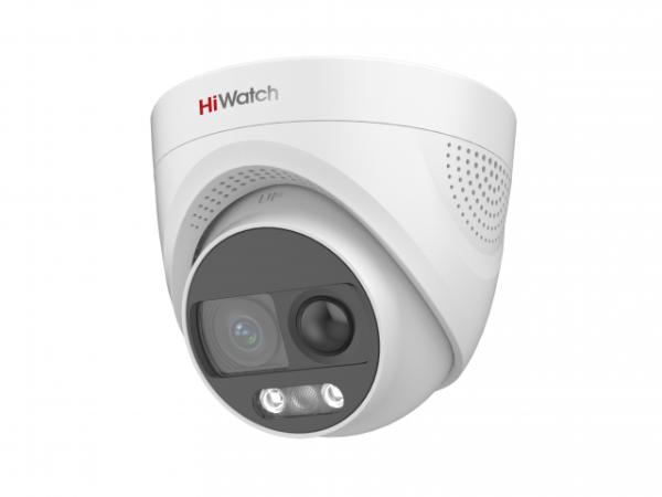 Купольная HD-TVI видеокамера HiWatch DS-T213X (3.6 mm) с PIR-датчиком и EXIR подсветкой до 20м