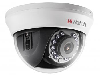Купольная HD-TVI видеокамера HiWatch DS-T591(C) (2.8 mm) с ИК-подсветкой до 20м