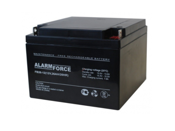 Аккумулятор AlarmForce 12V 26Ah FB 26-12