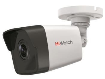 Цилиндрическая IP-видеокамера HiWatch DS-I450M (4 mm) с EXIR-подсветкой до 30м и микрофоном