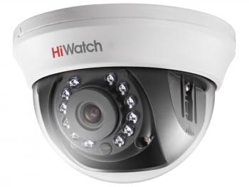 Купольная HD-TVI видеокамера HiWatch DS-T201(B) (3.6 mm) с ИК-подсветкой до 20м