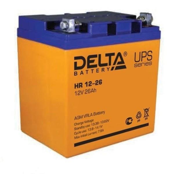Аккумулятор Delta 12V 26Ah HR 12-26 / HR 12-26 L