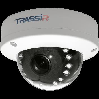 Купольная IP-видеокамера Trassir TR-D2D5 2.8 с ИК-подсветкой до 15 м