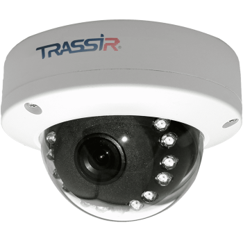 Купольная IP-видеокамера Trassir TR-D4D5 2.8 с ИК-подсветкой до 15 м