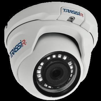 Купольная IP-видеокамера Trassir TR-D4S5 2.8 с ИК-подсветкой до 25 м