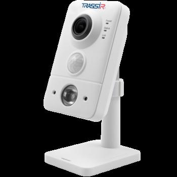 Компактная IP-видеокамера Trassir TR-D7121IR1 v5 3.6 с ИК-подсветкой до 10 м