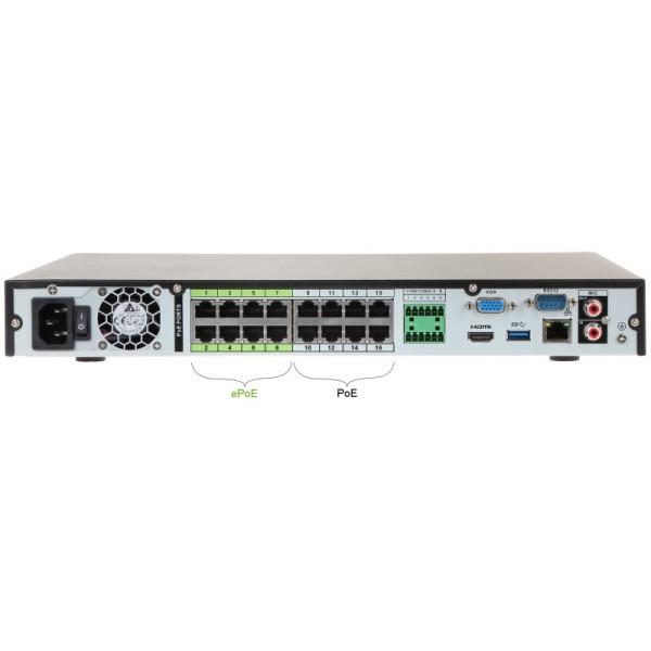 16-канальный IP-видеорегистратор с PoE портами Dahua DHI-NVR5216-16P-4KS2E