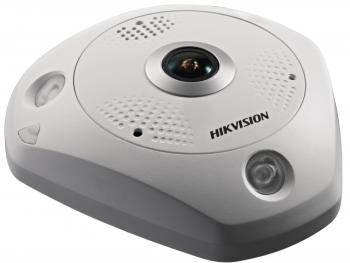 Fisheye IP-видеокамера Hikvision DS-2CD63C5G0E-IVS(2mm)(B) с ИК-подсветкой до 15м