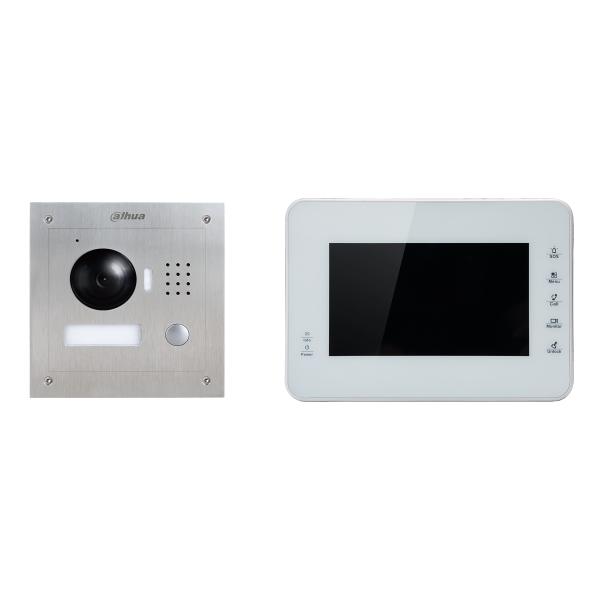 Комплект IP видеодомофона Dahua DHI-VTK-VTO2000A-VTH1560BW(S)