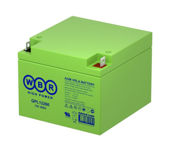 Аккумулятор WBR 12V 26Ah GPL12260