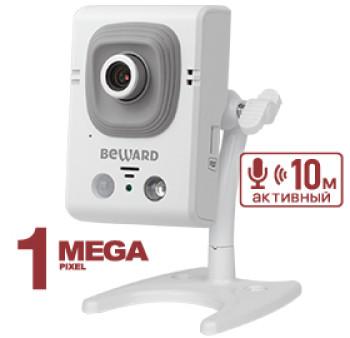 Компактная IP-видеокамера Beward B12CR c ИК-подсветкой до8м
