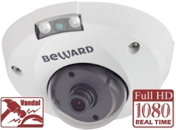 Купольная IP-видеокамера Beward B2710DMR (8 мм) с ИК-подсветкой до 8 м