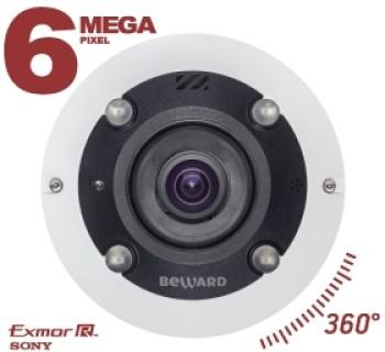Панорамная Fisheye IP-видеокамера Beward BD3670FL2 с ИК-подсветкой до 5 м