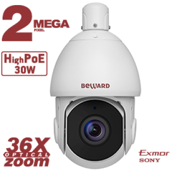 Скоростная поворотная IP-видеокамера Beward SV2215-R36P2 с ИК-подсветкой до 300 м