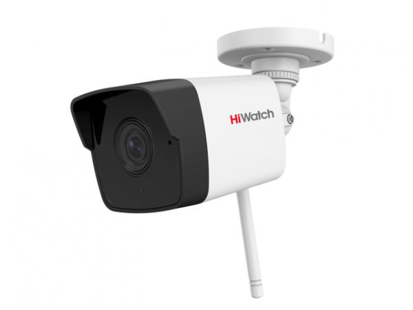 Цилиндрическая IP-видеокамера HiWatch DS-I250W(C) (4 mm) c EXIR-подсветкой до 30м и WiFi