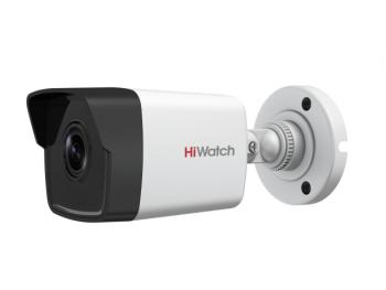 Цилиндрическая IP-видеокамера HiWatch DS-I450M(B) (2.8 mm) с EXIR-подсветкой до 30м и встроенным микрофоном