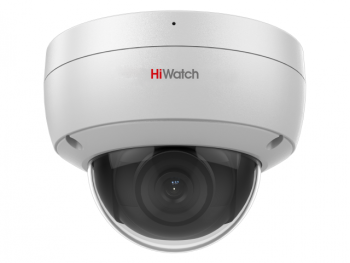 Купольная IP-видеокамера HiWatch DS-I452M (4 mm) с EXIR-подсветкой до 30 м и встроенным микрофоном