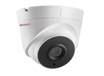 Купольная IP-видеокамера HiWatch DS-I653M (2.8 mm) с EXIR-подсветкой до 30м и встроенным микрофоном