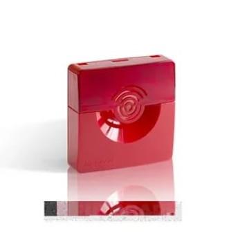 Оповещатель охранно-пожарный звуковой Рубеж ОПОП 2-35 12В (корпус красный)