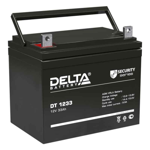 Аккумулятор Delta 12V 33Ah DT 1233