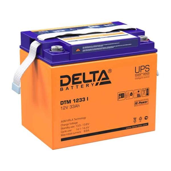 Аккумулятор Delta 12V 33Ah DTM 1233 I