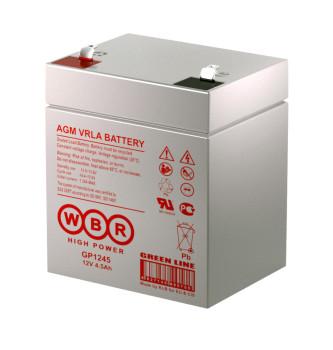 Аккумулятор WBR 12V 4,5Ah (16W) GP1245