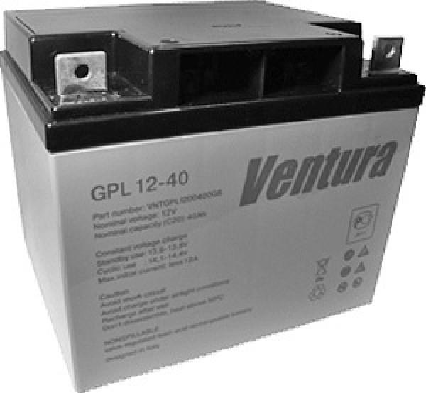 Аккумулятор Ventura 12V 40Ah GPL 12-40