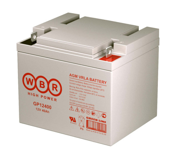 Аккумулятор WBR 12V 40Ah GP12400