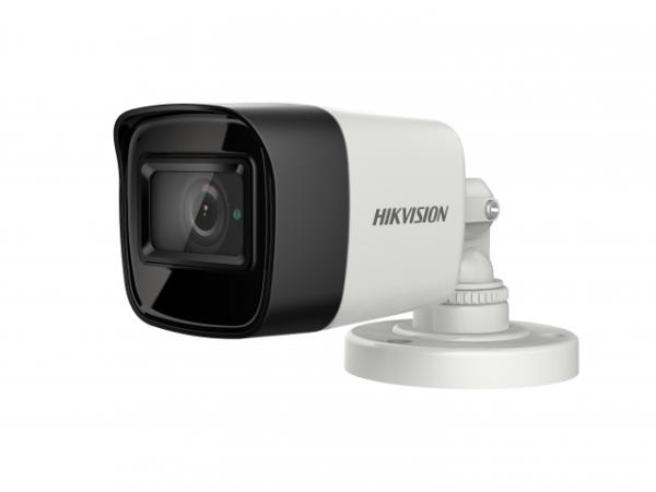 Цилиндрическая компактная HD-TVI видеокамера Hikvision DS-2CE16H8T-ITF (3.6mm) 5Мп с EXIR-подсветкой до 30м