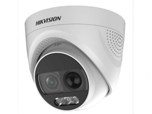 Купольная HD-TVI видеокамера Hikvision DS-2CE72DFT-PIRXOF(6mm) с сиреной, строблампой и LED подсветкой до 20м